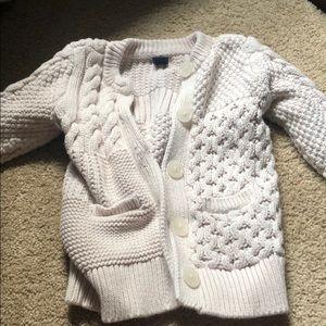 GAP chunky ivory knit sweater sz 2T